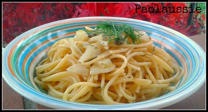 Spaghetti con limone e finocchi